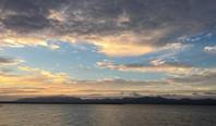 夕日の宍道湖!