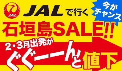 2-3月最終値下げ!JALで行く石垣島!直行&乗継接続OK♪
