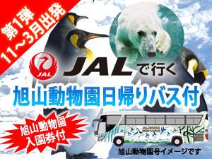 早くも発売!11~3月発旭山日帰り動物園バス付