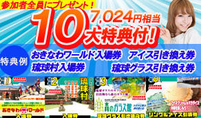 西海岸(恩納村、読谷村)沖縄10大特付ツアー