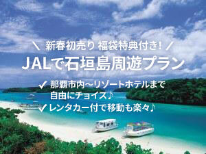 新年SALE!石垣島周遊ツアー!さらに福袋付きで旅を楽しく♪