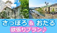人気の街、小樽と札幌に宿泊する欲張りプラン